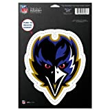 WinCraft NFL Baltimore Ravens 20889012 Die Cut Logo Magnet, Small, Black