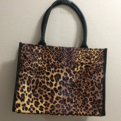 Neiman Marcus Beauty Even Step  Up Tote Bag Cleopard