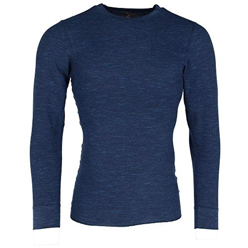 (Hanes Men's Waffle Knit Space Dyed Thermal Shirt, Large,)