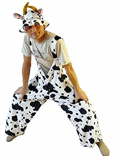 Fantasy World Adults Cow Costume Halloween for Men and Women, Size: XL / 16-18, J05