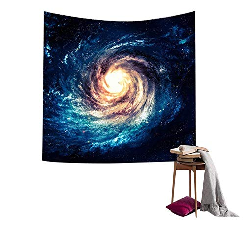 QEES Galaxy Tapestry Star Universe Milky Way Outer Space Polyester Fabric...