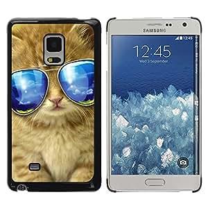 TopCaseStore / la caja del caucho duro de la cubierta de protección de la piel - Sunglasses American Longhair Maine Cat - Samsung Galaxy Mega 5.8 9150 9152
