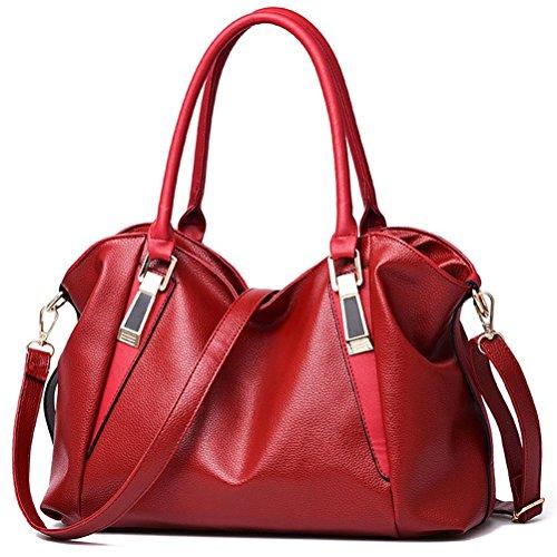 ufficio Rosso blu sintetica Messaggero borse Cachi viaggio per borse a Del in tracolla pelle capienza donna campeggio Grande Tote Honeymall Rq7fHR
