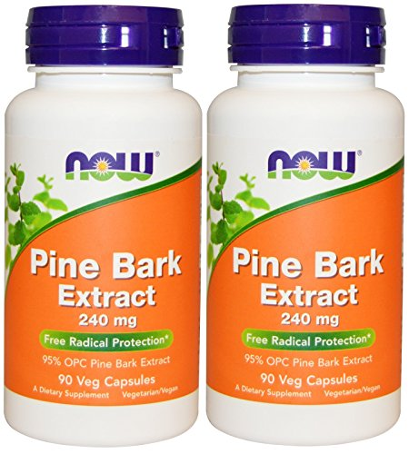 - Now Foods Pine Bark Extract 240 mg, 90 Veg Capsules (90 Pack of 2)