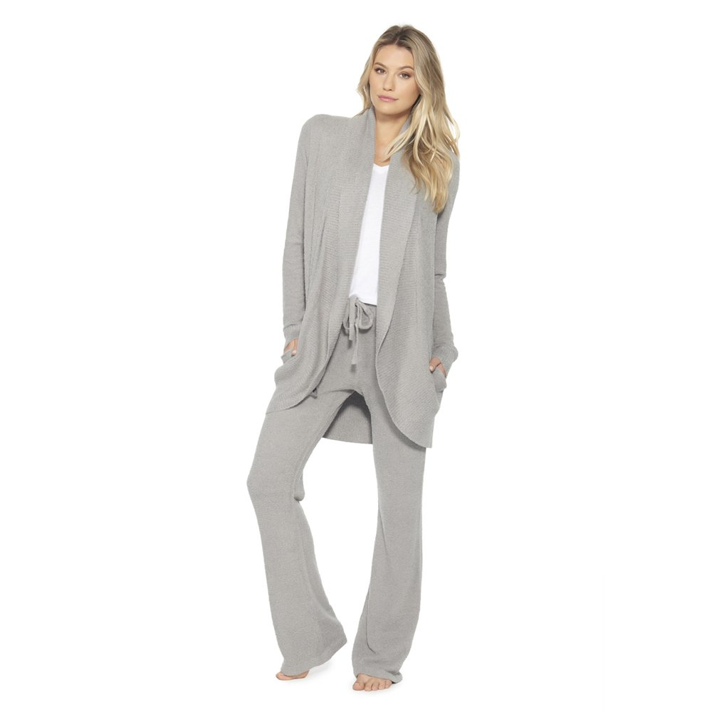 Barefoot Dreams Bamboo Chic Lite Circle Cardi (X-Small, Pewter) by Barefoot Dreams