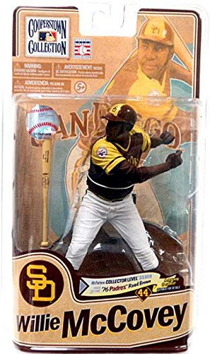 (McFarlane Toys MLB Cooperstown Series 8 Action Figure Willie McCovey (San Diego Padres) 76 Padres Road Brown Silver Collector Level Chase by Unknown)