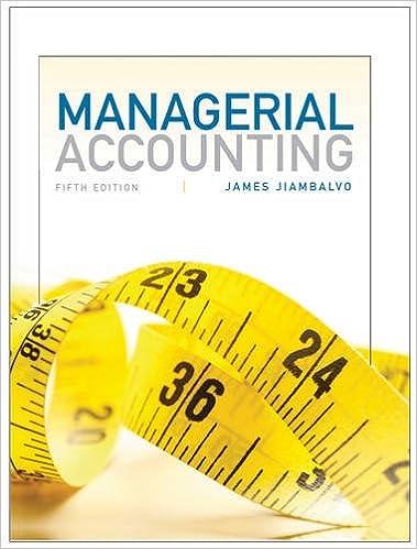 managerial accounting manual jiambalvo