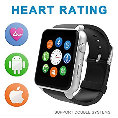 Starrybay® Smart Watch Bluetooth Sports Watch with Heart Rate Monitor,touch Screen and Magnetic Charging for Android Samsung Htc/apple Ios