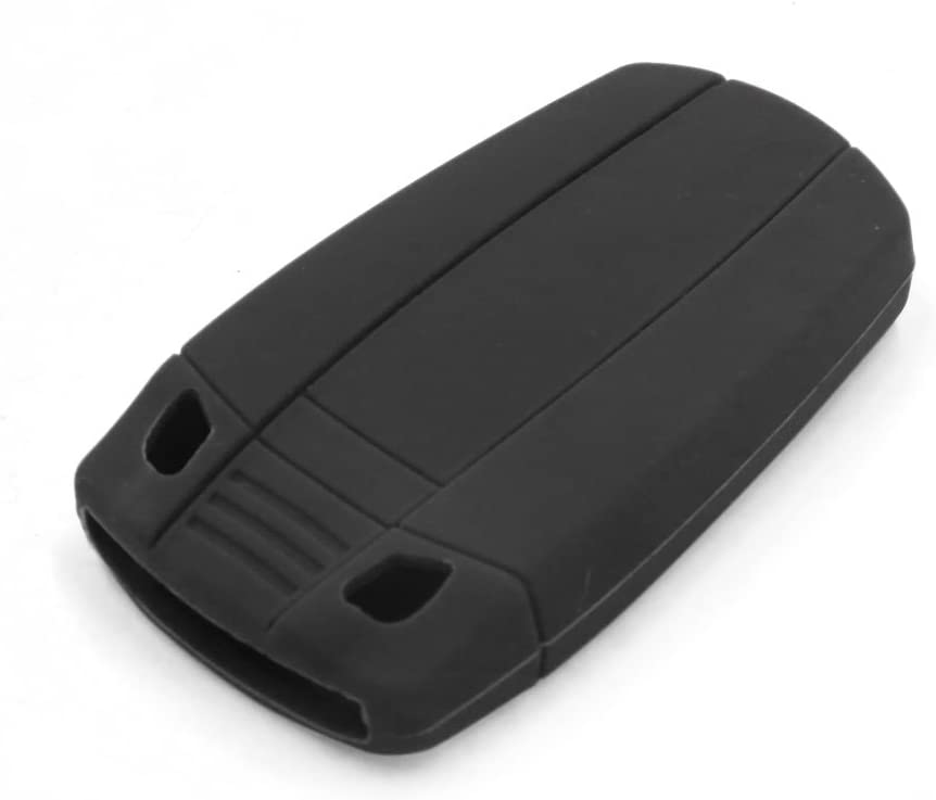 uxcell Black Silicone Car Remote Flip Key Fob Cover Case Shell for BMW 1 2 3 5 7 Series