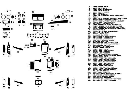 Rdash Dash Kit Decal Trim for Mazda Mazda3 2010-2013 - Carbon Fiber 4D (Black)