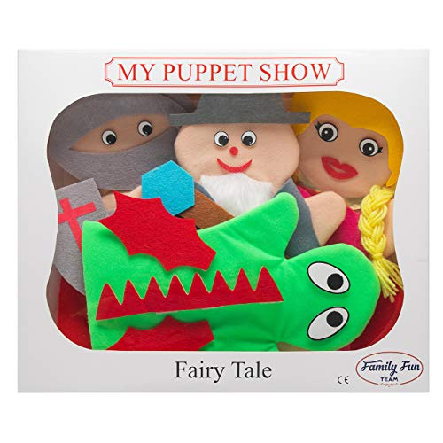 My First Puppet Show Hand Puppet Set – 4 Fairy-Tale Figures w/ self Fastened-Attach Accessories and a Bonus eBook, Spark Imagination & Develop Communication and Motor ()