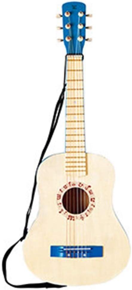 Niño guitarra acústica con cuerdas de nylon de Protección Ambiental de la Salud pintura lisa superficie cómoda Feel presente de cumpleaños musical Ilustración, 2 colores (color: rojo, Tamaño: 74x28cm)
