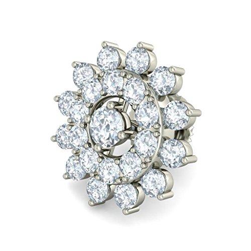 18K Or Blanc 1.44CT TW Round-cut-diamond (IJ | SI) Boucles d'oreille à tige