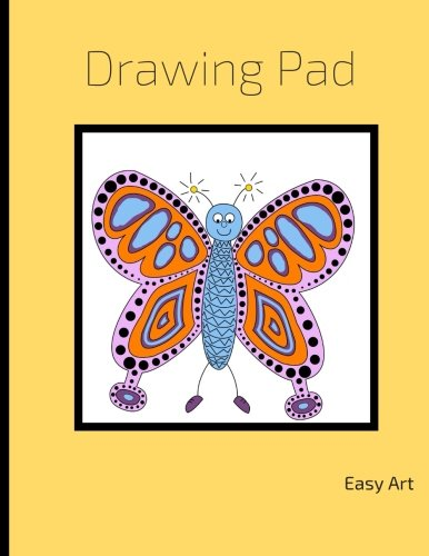 Drawing Pad: for kids, Butterfly Sketchbook, Blank Pages, Extra large (8.5 x 11) , Sketch, Draw Doodle and Write