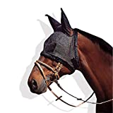ZDJR Horse Fly Mask,Ears and Forelock Able to Come Through The Mask,Protects Horses Face Nose from Insects,Quiet Ride Standard Horse Fly Mask with Ears