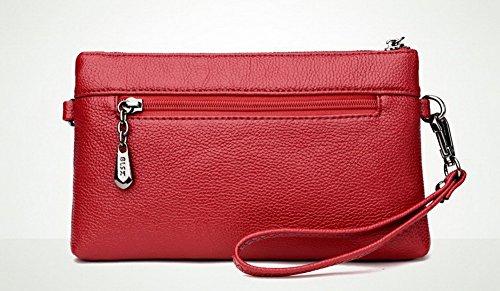 Rouge Sacs Violet ROFBL180868 Pu Sacs à Femme bandoulière fourre Cuir Zippers Achats Odomolor tout 8x4qaHOaw