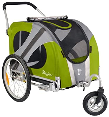 DoggyRide Novel Dog Stroller, Outdoors Green from Dutch Dog Design