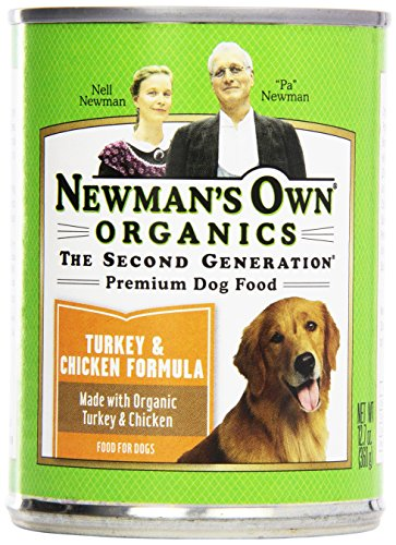 Newman's Own Organic Dog Food, Canned Turkey & Chicken Formula for Puppies/Active Dogs, 12.7 oz