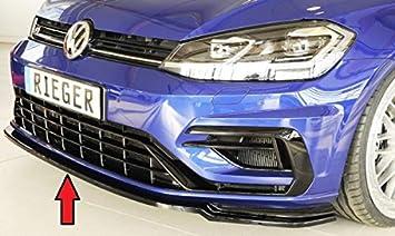 Rieger Frontal Alerón Espada Negro Brillante para Volkswagen Golf 7 R/R Line: 02.17
