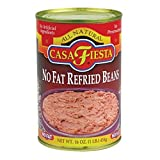 CASA FIESTA, Refried Beans, No Fat, Pack of 3, Size 16 OZ