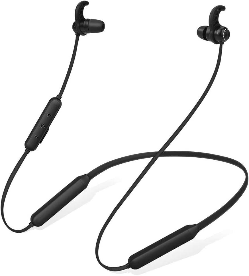Avantree Auriculares de Nuca Bluetooth Diadema Inalambricos para TV PC, 20 Horas, Magnético Auriculares Inalámbricos con Micrófono, Sin retardo, Compatibles con Móviles iPhone música & Llamadas