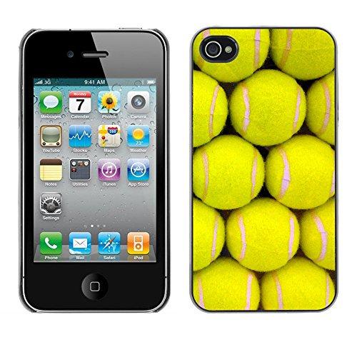 Hülle Case Schutzhülle Cover Premium Case // V00002436 Tennisbälle // Apple iPhone 4 4S 4G