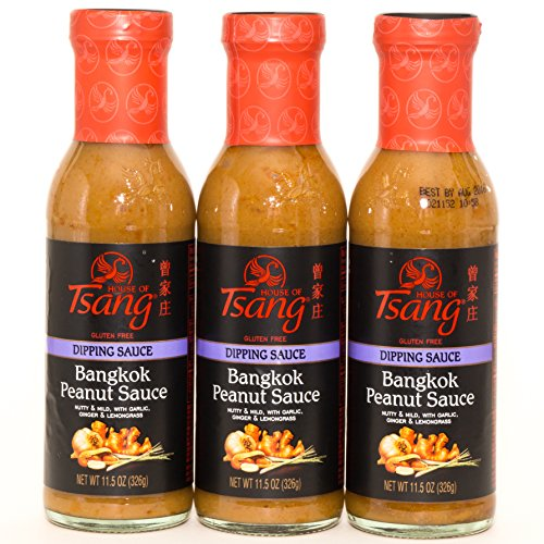 (House of Tsang Bangkok Peanut Sauce 11.5 Oz (Pack of 3))