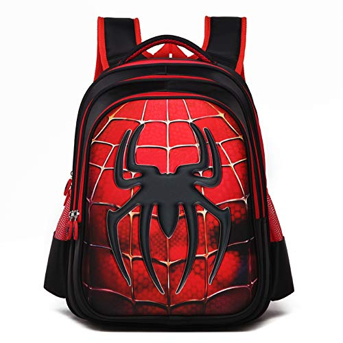 YOURNELO Boy's Cool 3D Super Heroes The Avengers School Backpack (New Spider)
