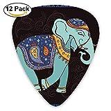 Exotic Aztec African Mexico Thailand Print Cartoon Meditative Elephant Guitar Pick 12pack