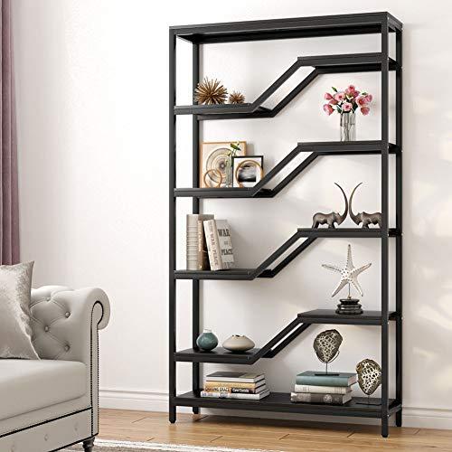 Tribesigns 6-Shelf Bookshelf, Modern Bookcase Bookshelves, Display Shelf Storage Unit with Sturdy Metal Frame for Home Office Deco,40