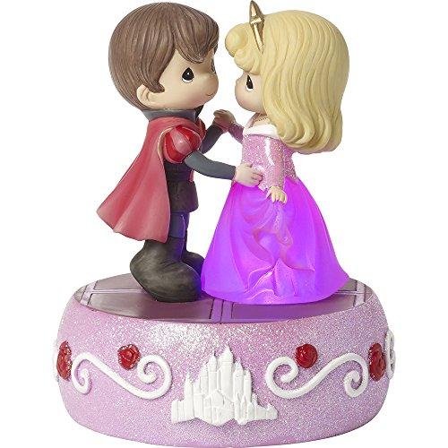 Fairies Collection Dancing (Precious Moments, Disney Showcase Sleeping Beauty, Aurora Light Up Music Box, Dancing On A Dream, Resin, #171103)