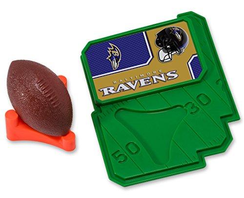 CAKEMAKE NFL Football & Tee, Cake Topper, Baltimore Ravens