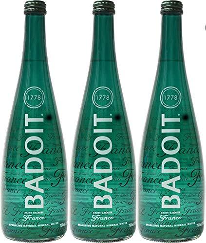 Badoit Natural Spring Sparkling Water, 25.4oz Glass Bottle (Pack of 3, Total of 76.2 Oz)