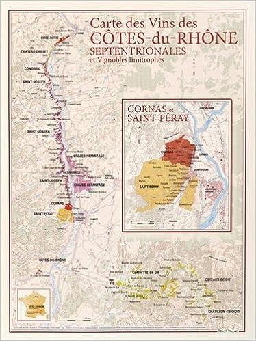 Carte des vins des Côtes du Rhone septentrionales