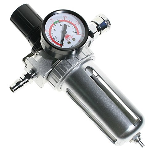 GoldenTrading Air Compressor Moisture Water Trap Filter Regulator Separator + Mount Connection