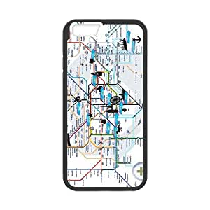 London Tube Map iPhone 6 Plus 5.5 Inch Cell Phone Case Black xlb-318622