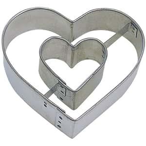 HEART IN HEART cookie cutter 3.5 in. B1023X