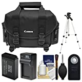 Canon 2400 Digital SLR Camera Case - Gadget Bag with LP-E17 Battery & Charger + Tripod + Remote + Kit for Rebel T6s, T6i, T7i, EOS 77D