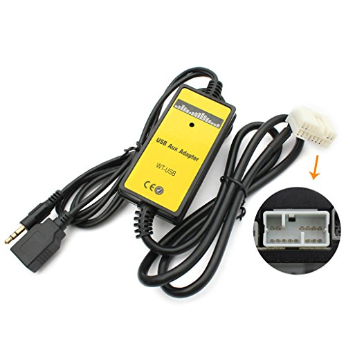 Aux interface, Yomikoo USB AUX in Adapter Car Stereo Digital Cd Changer 3.5mm Aux interface for ...