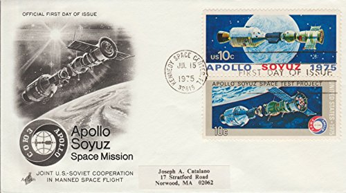Apollo Soyuz Space Mission U.S. 10¢ Postage Stamp Jul 15 1975 First Day Of Issue Cancel