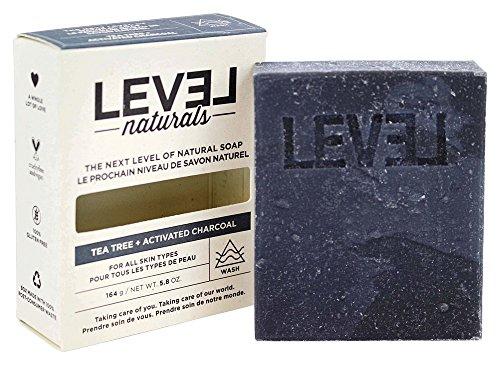 Level Naturals - Bar Soap Tea Tree + Activated Charcoal - 5.8 oz. (Level Naturals Body)