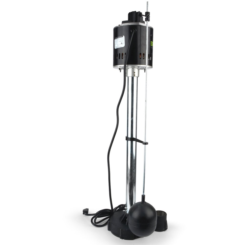 ECO-FLO Products EPC50 Pedestal Sump Pump with Vertical Float Switch 5,000 GPH 1//2 HP
