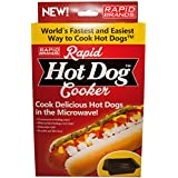 Rapid Hot Dog Cooker - Cook Perfect Hot Dogs in the Microwave in 2 Minutes or Less!
