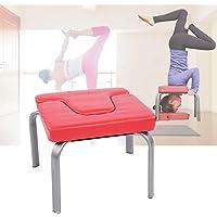 Banc Yoga, Chaise d'Inversion de Yoga avec Coussin Confortable Tabouret de Poirier Fitness pour Yoga à la Maison et Gymnastique, Taille: 44 x 43 x 36,5cm
