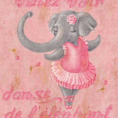 Dance Of The Elephant Canvas Art Size: 14'' H x 14'' W x 1.5'' D by Oopsy Daisy