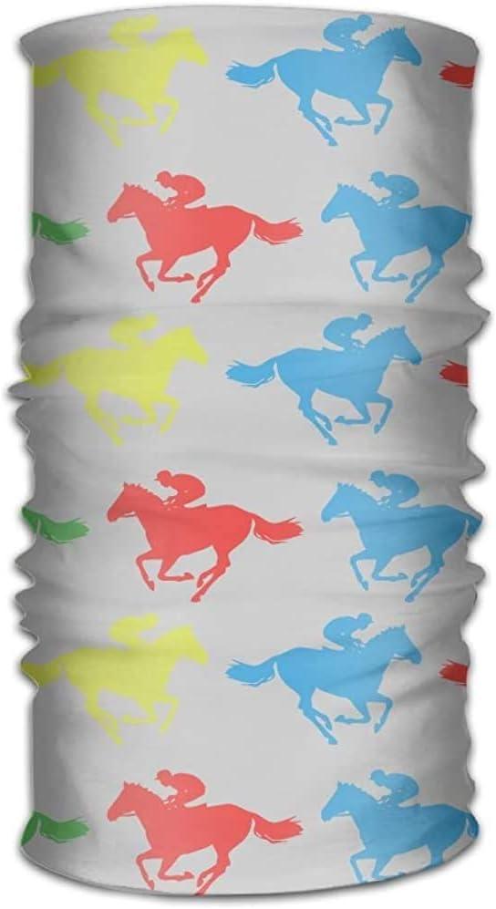 KDU Fashion Sport Sweatband,Pañuelo Colorido De La Carrera De Caballos, Polaina Duradera del Cuello para La Protección UV Al Aire Libre