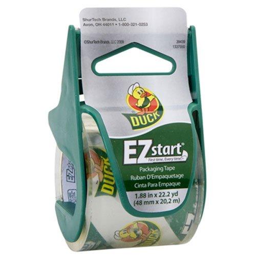 Duck Brand EZ Start Packaging Tape with Dispenser, 1.88-Inch