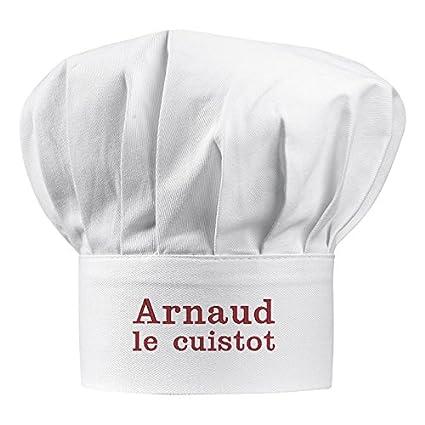 Cappello da chef adulto con nome ricamato  Amazon.it  Casa e cucina 36005c200414