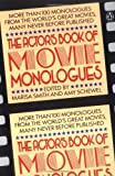 The Actor's Book of Movie Monologues, , 014009475X