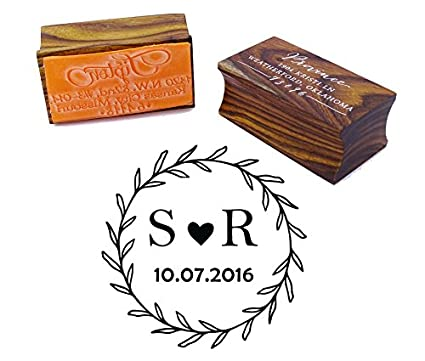 amazon com custom wood mounted rubber stamp personalized round